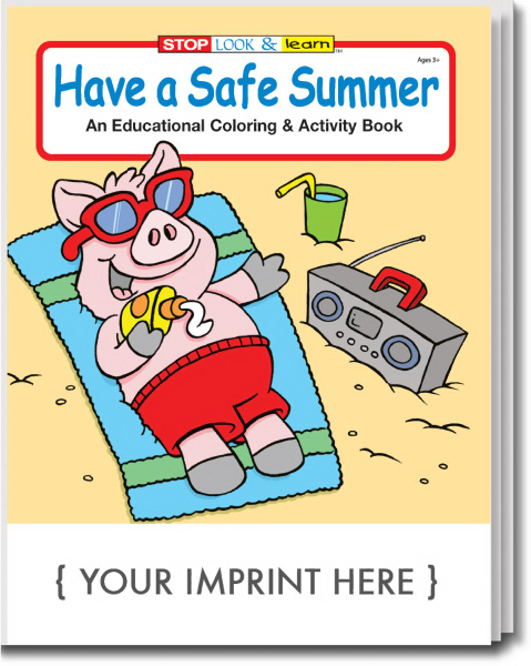 Personalized Have a Safe Summer Coloring and Activity Book