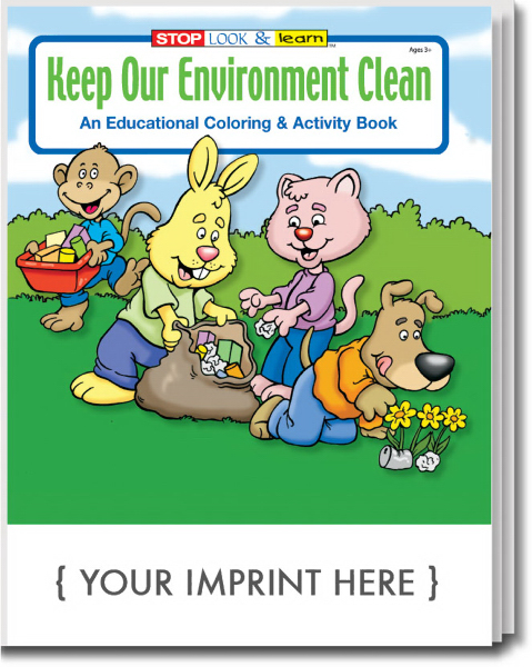 Personalized Keep Our Environment Clean Coloring and Activity Book