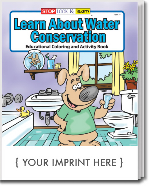 Printed Learn About Water Conservation Coloring and Activity Book