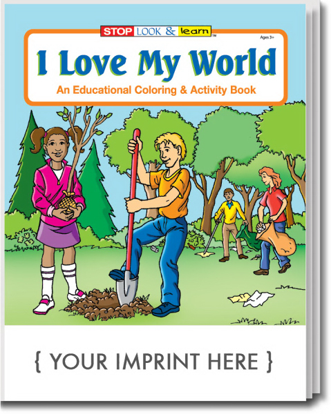 Custom I Love My World Coloring and Activity Book