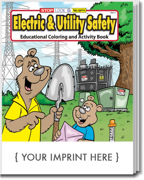 Printed Electric & Utility Safety Coloring and Activity Book