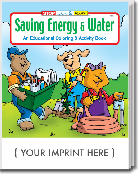 Personalized Saving Energy and Water Coloring and Activity Book