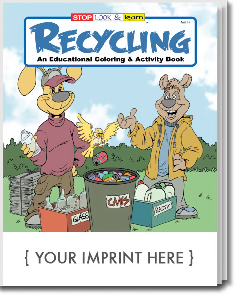 Promotional Recycling Coloring and Activity Book