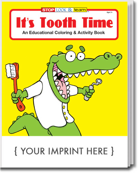 Imprinted It's Tooth Time Coloring and Activity Book