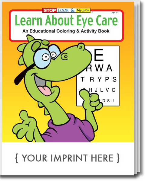 Custom Learn About Eye Care Coloring and Activity Book