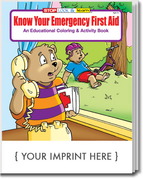 Custom Know Your Emergency First Aid Coloring and Activity Book