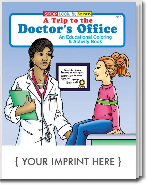 Printed A Trip to the Doctor's Office Coloring and Activity Book