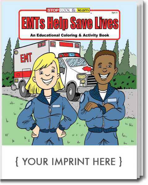 Custom EMTs Help Save Lives Coloring and Activity Book