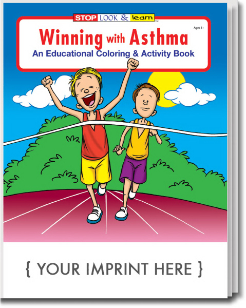 Personalized Winning With Asthma Coloring and Activity Book