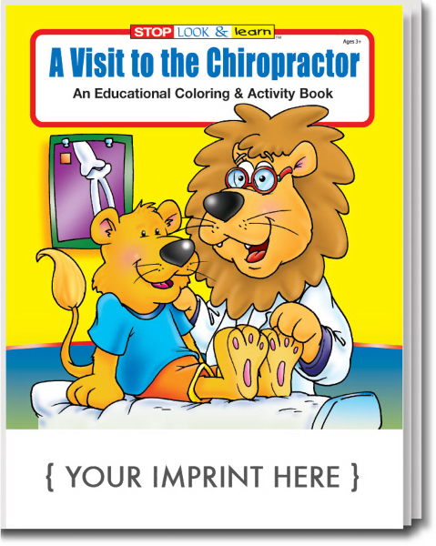 Custom A Visit to the Chiropractor Coloring and Activity Book