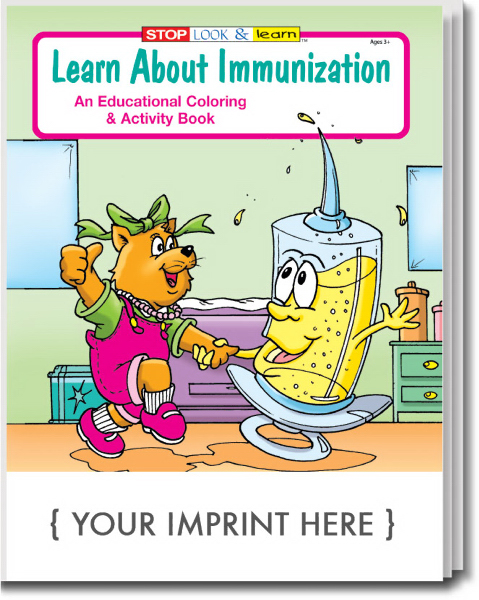 Promotional Learn About Immunization Coloring and Activity Book