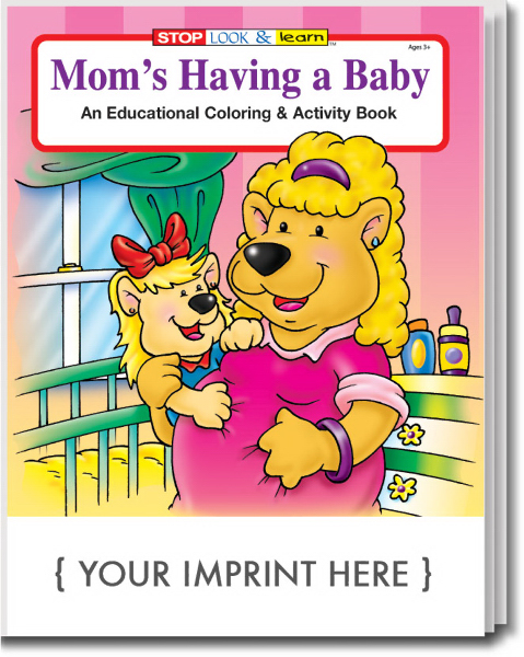 Personalized Mom's Having a Baby Coloring and Activity Book