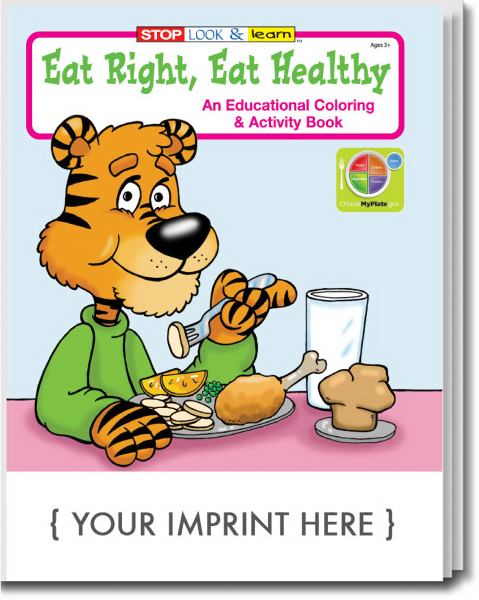 Custom Eat Right, Eat Healthy Coloring and Activity Book