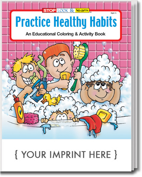 Custom Practice Healthy Habits Coloring and Activity Book