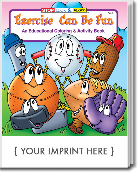 Personalized Exercise Can Be Fun Coloring and Activity Book