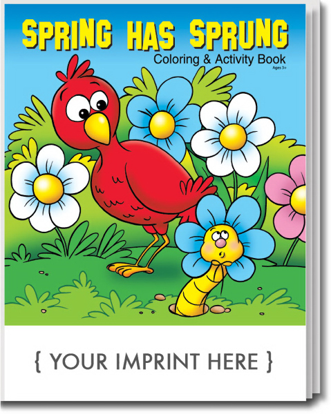 Promotional Spring Has Sprung Coloring and Activity Book