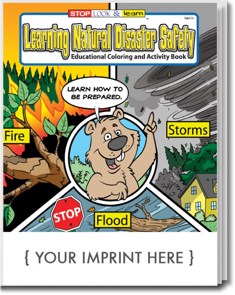 Promotional Learning Natural Disaster Safety Coloring and Activity Book
