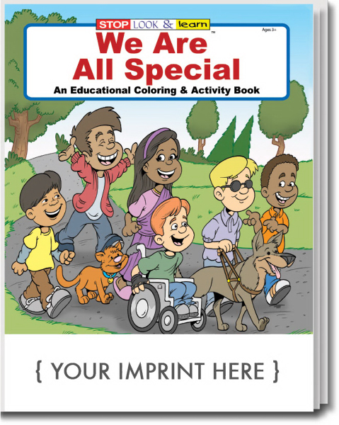 Imprinted We Are All Special Coloring and Activity Book