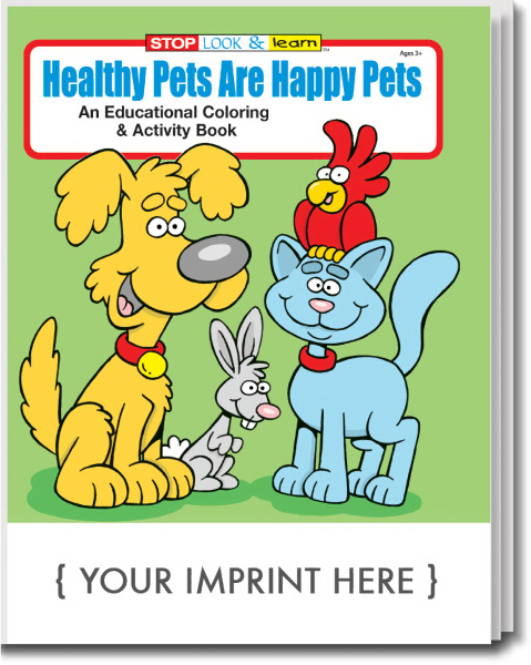 Promotional Healthy Pets are Happy Pets Coloring and Activity Book