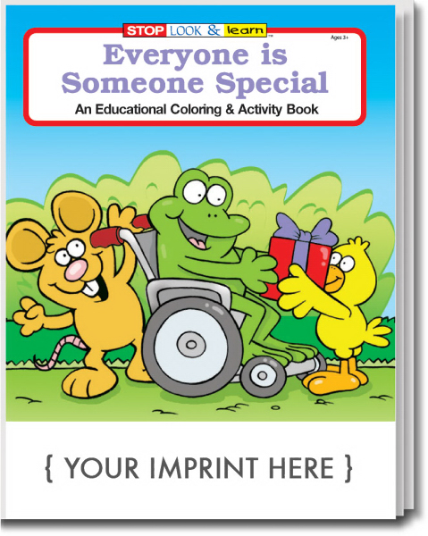 Personalized Everyone is Someone Special Coloring and Activity Book