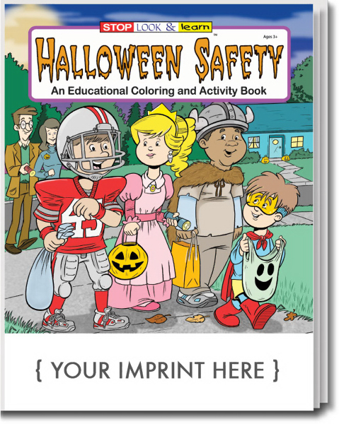 Imprinted Halloween Safety Coloring and Activity Book