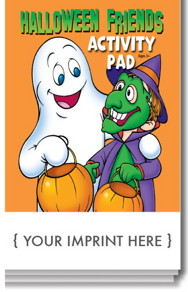 Promotional Halloween Friends Activity Pad