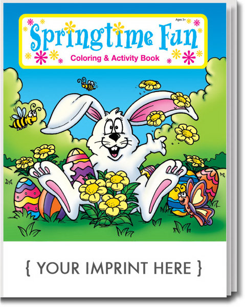 Printed Springtime Fun Coloring and Activity Book
