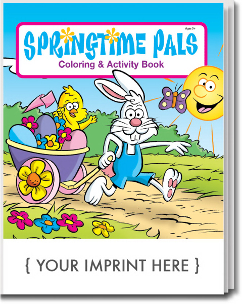 Custom Springtime Pals Coloring and Activity Book
