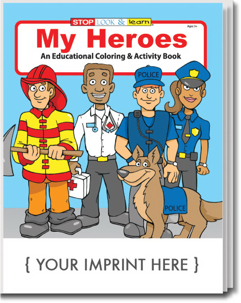 Custom My Heroes Coloring and Activity Book