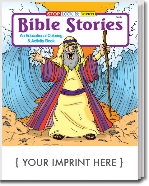 Custom Bible Stories Coloring and Activity Book