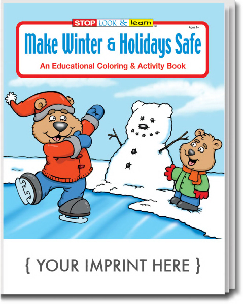 Printed Make Winter & Holidays Safe Coloring and Activity Book