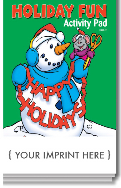 Imprinted Holiday Fun Activity Pad