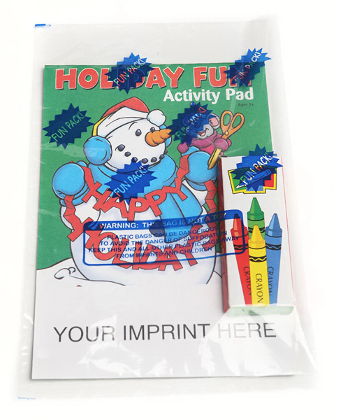 Printed Holiday Fun Activity Pad Fun Pack