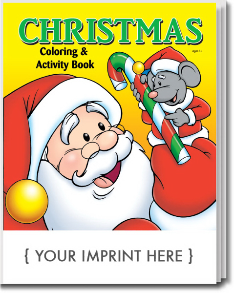 Imprinted Christmas Coloring and Activity Book