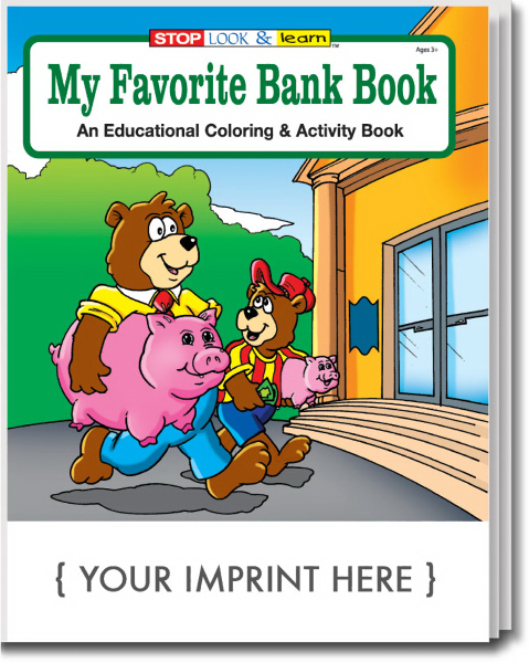 Printed My Favorite Bank Coloring and Activity Book