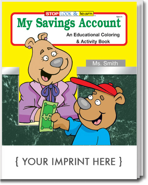 Promotional My Savings Account Coloring and Activity Book