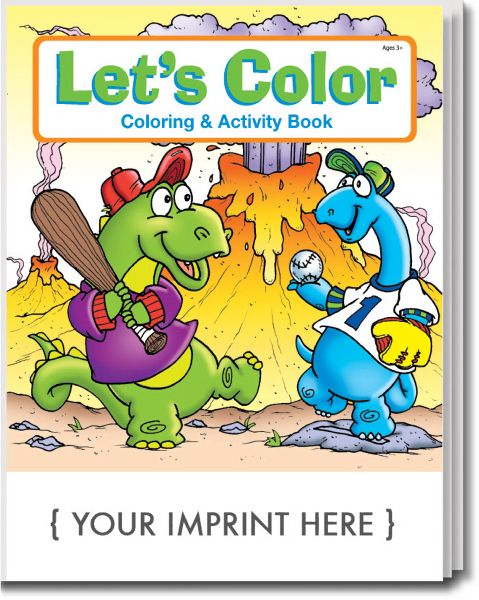 Printed Let's Color Coloring and Activity Book