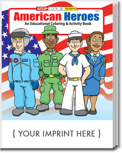 Printed American Heroes Coloring and Activity Book