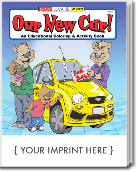 Promotional Our New Car Coloring and Activity Book