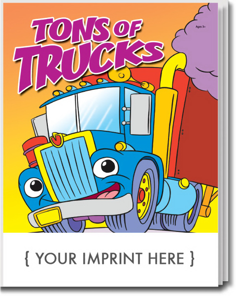 Personalized Tons of Trucks Coloring and Activity Book