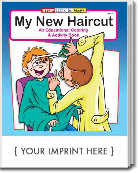 Customized My New Haircut Coloring and Activity Book