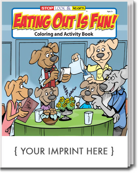 Custom Eating Out Is Fun Coloring and Activity Book