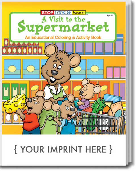 Customized A Visit to the Supermarket Coloring and Activity Book