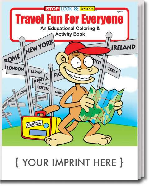 Personalized Travel Fun For Everyone Coloring and Activity Book
