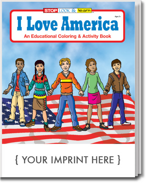 Promotional I Love America Coloring and Activity Book