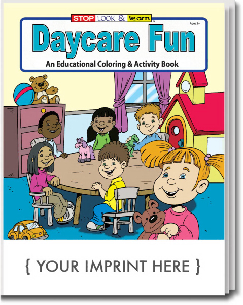Promotional Daycare Fun Coloring and Activity Book