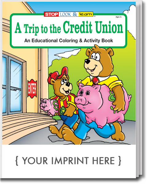 Personalized A Trip To The Credit Union Coloring and Activity Book
