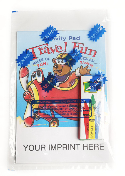 Custom Travel Fun Activity Pad Fun Pack