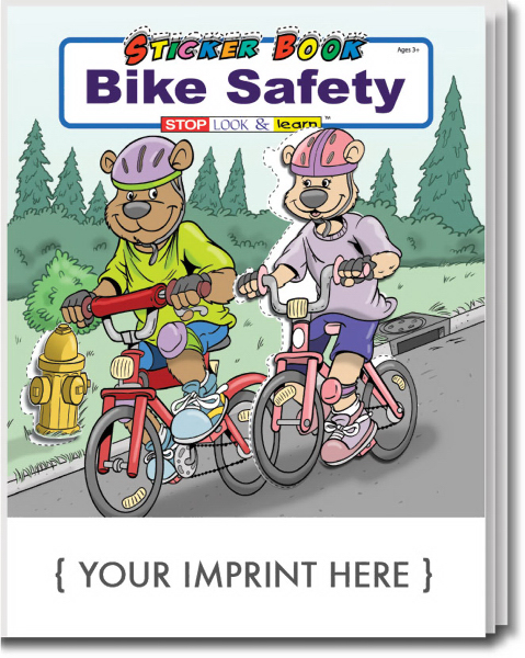 Customized Bike Safety Sticker Book