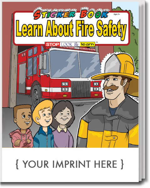 Promotional Learn About Fire Safety Sticker Book